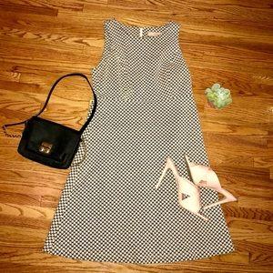 Loft Black & White Chevron Print Dress
